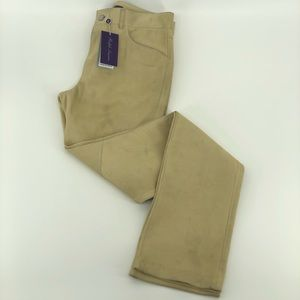 Ralph Lauren Purple Label Suede Pants Sz 4 ***flaw